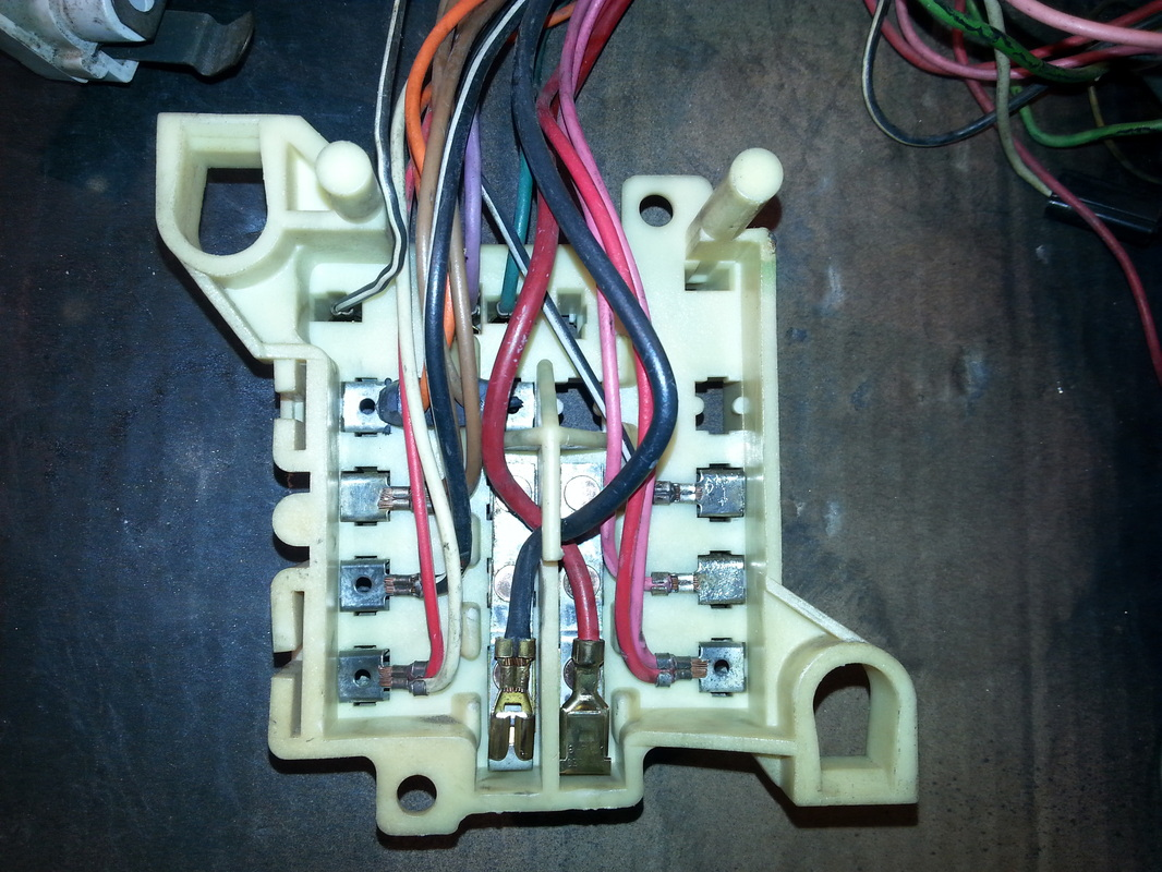 back side of fuse block after re work tim 39 s 1970 dodge. Black Bedroom Furniture Sets. Home Design Ideas